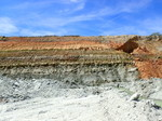 Geologic Exposure showing Miccosukee Formation over Dogtown Member at BASF Quarry, Gadsden County (2016)