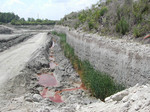 Pit Wall at Langston Quarry (Franklin County), April 2002