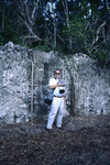 Sam Upchurch in front of Geologic Exposure at Windley Key Quarry, Monroe County