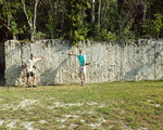 """Geologists Rick Green and Guy """"Harley"""" Means at Windley Key Quarry, 2007"""
