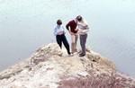 Geologists at Lake Miccosukee Sink