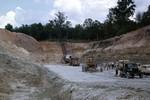 Dragline In Fullers Earth Quarry